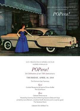 The Opera Guild celebrates its 75th Anniversary at POPera, a cabaret starring soprano Deborah Voigt, Tony Award-winner Laura Benanti, Jonathan Groff and tenor trio Romanza. This fundraiser also features a cocktail buffet and live auction. 6 p.m. April 10. Fairmont Hotel, 950 Mason St.