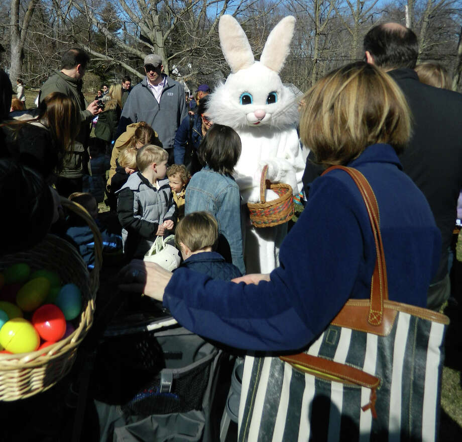 The Easter bunny will make a visit to the Darien Community Association's egghunt Friday, April 11. Photo: Contributed Photo, Contributed / Darien News