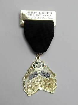 Rey Feo LXVI Jimmy Green comes in with a record number of medals, including this one, the Royal Evening Under the Stars medal. Photo: Juanito M. Garza, San Antonio Express-News / San Antonio Express-News