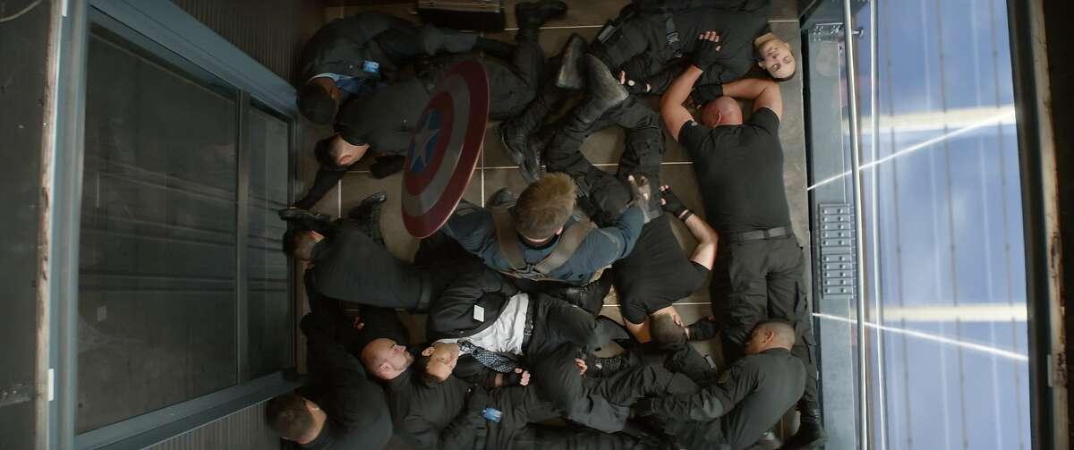 """""""Marvel's Captain America: The Winter Soldier"""" Captain America/Steve Rogers (Chris Evans) Ph: Film Frame © 2014 Marvel. All Rights Reserved."""