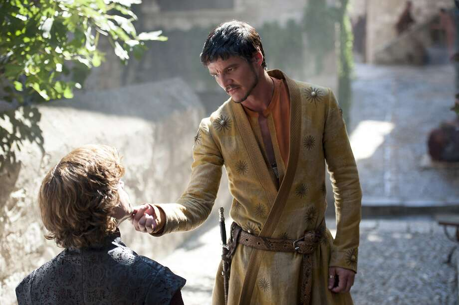 Tyrion Lannister (Peter Dinklage, left) and his family are not exactly fans of Prince Oberyn Martell (Pedro Pascal), a sexual omnivore known as the Red Viper. Fans who want a refresher or newcomers: Click through the slideshow to see where last season left off.  Photo: Macall B. Polay, HBO