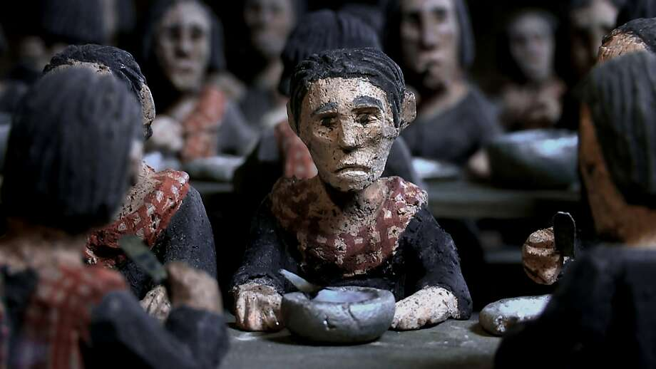 """A scene from """"The Missing Picture"""" with clay figures because director Rithy Panh had no film or photos of his slain family. Photo: Strand Releasing"""