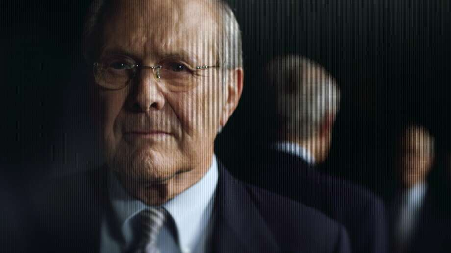 "Donald Rumsfeld shows his wit - and a few less charming qualities - in ""The Unknown Known."" Photo: RADiUS-TWC"