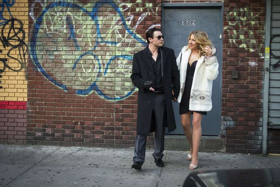 "Tommy (Michael Pitt) and Rosie (Nina Arianda) hold up Mafia social clubs in ""Rob the Mob,"" which is based on a true story. Photo: Courtesy Of Millennium Entertain"