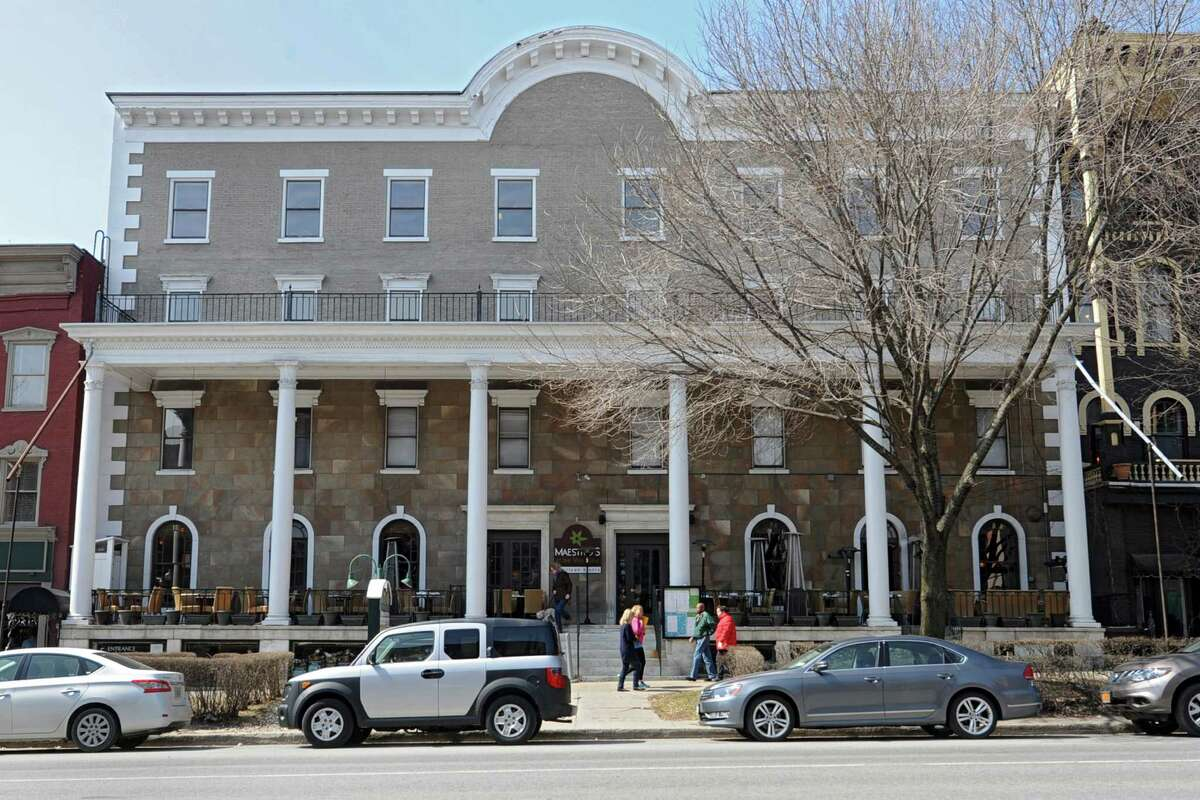 Exterior of the more than 160-year-old Rip Van Dam hotel on Wednesday, April 2, 2014 in Saratoga Springs N.Y. The owners will be renovating 16 rooms of the hotel and adding a 160-room hotel and five-story parking garage to the downtown area. (Lori Van Buren / Times Union)