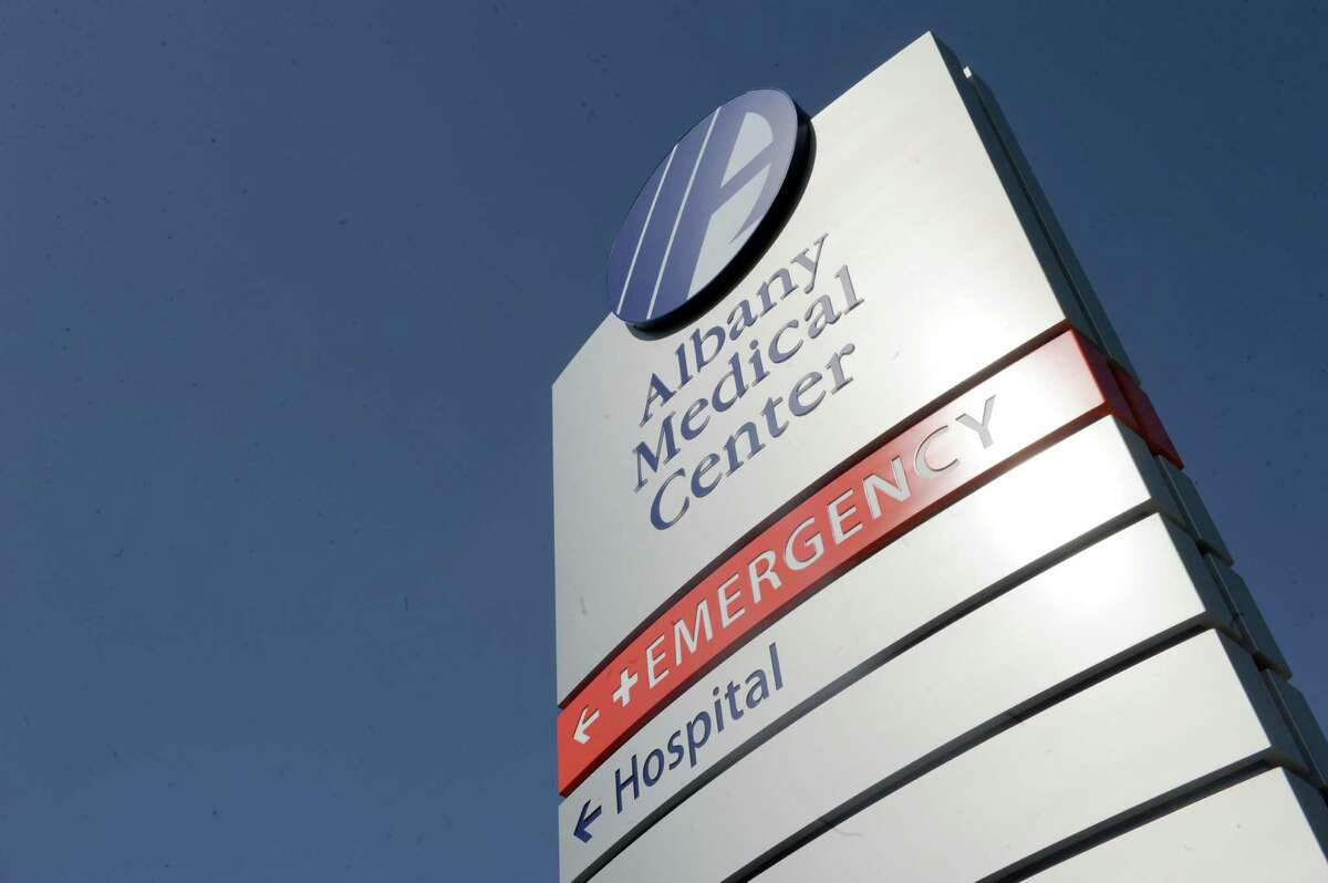 Emergency room signage at Albany Medical Center on Wednesday April 2, 2014 in Albany, N.Y. (Michael P. Farrell/Times Union)