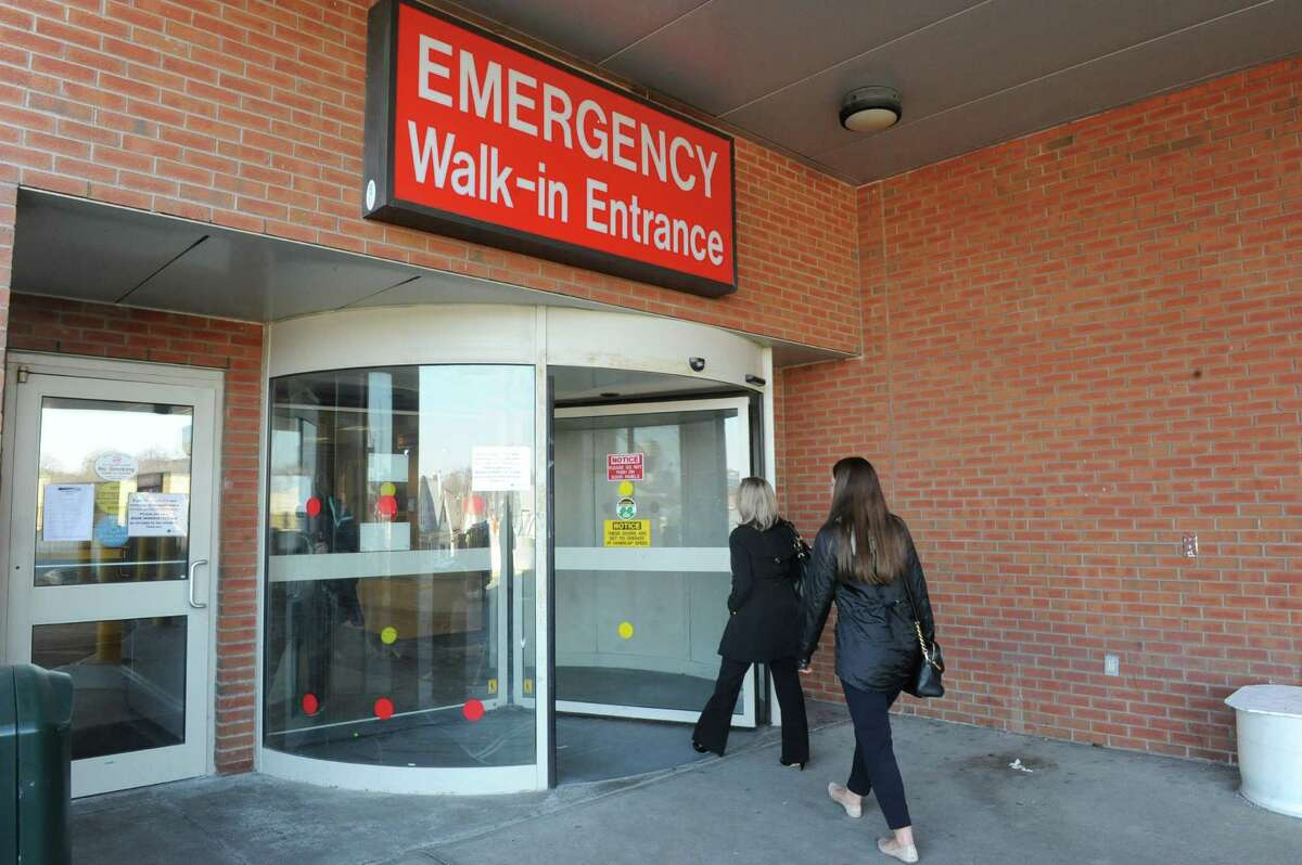 The emergency room entrance at Albany Medical Center on Wednesday April 2, 2014 in Albany, N.Y. (Michael P. Farrell/Times Union)