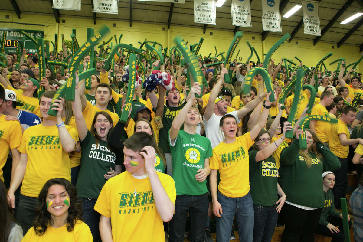 Were you Seen at the College Basketball Invitational championship series, Siena vs. Fresno State, at the Alumni Recreation Center on the Siena College campus in Loudonville on Wednesday, April 2, 2014?