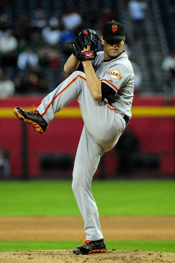 In his first start since July 24, Tim Hudson retired 23 of 27 batters. Photo: Matt Kartozian, Reuters