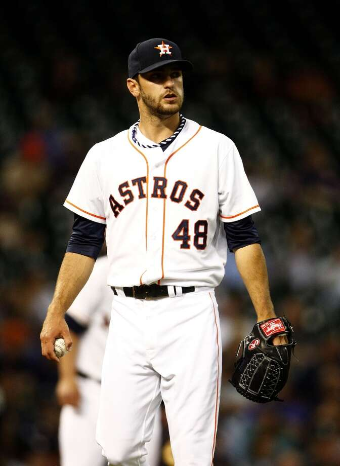 April 2: Astros 3, Yankees 1   Astros pitcher Jarred Cosart started his season with a win against the Yankees. Photo: Karen Warren, Houston Chronicle