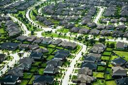Aerial view of Bridgeland, an 11,400-acre master-planned community in the northwest Houston suburb of Cypress, TX, photographed on Thursday, May 23, 2013.