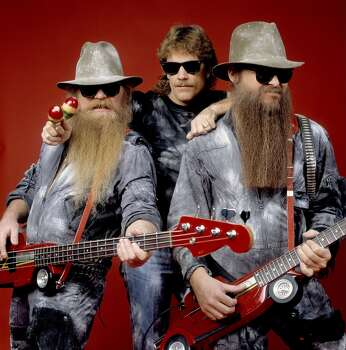 ZZ Top was formed in Houston. Bassist Dusty Hill (left) was born in Dallas and grew up in Lakewood. Drummer Frank Beard (center) was born in Frankston.Guitarist Billy Gibbons (right) was born in the Houston suburb of Tanglewood. Photo: Paul Natkin, WireImage