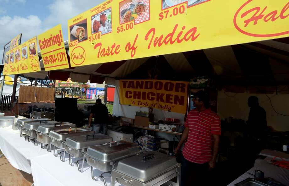 Taste of India at the South Texas State Fair. Photo taken Friday, March 28, 2014 Guiseppe Barranco/@spotnewsshooter
