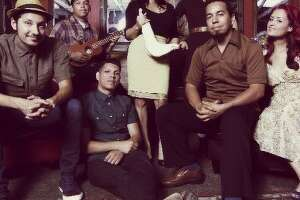 Las Cafeteras, an East Los Angeles band, played at Esperanza Peace & Justice Center on Wednesday.