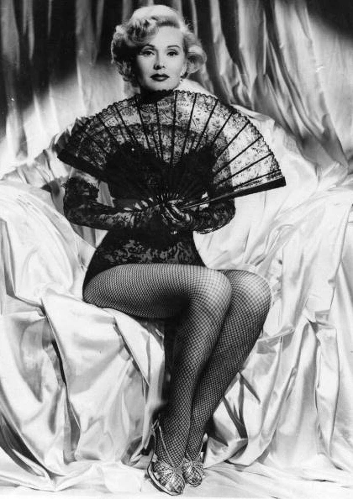 Hungarian born actress Zsa Zsa Gabor.