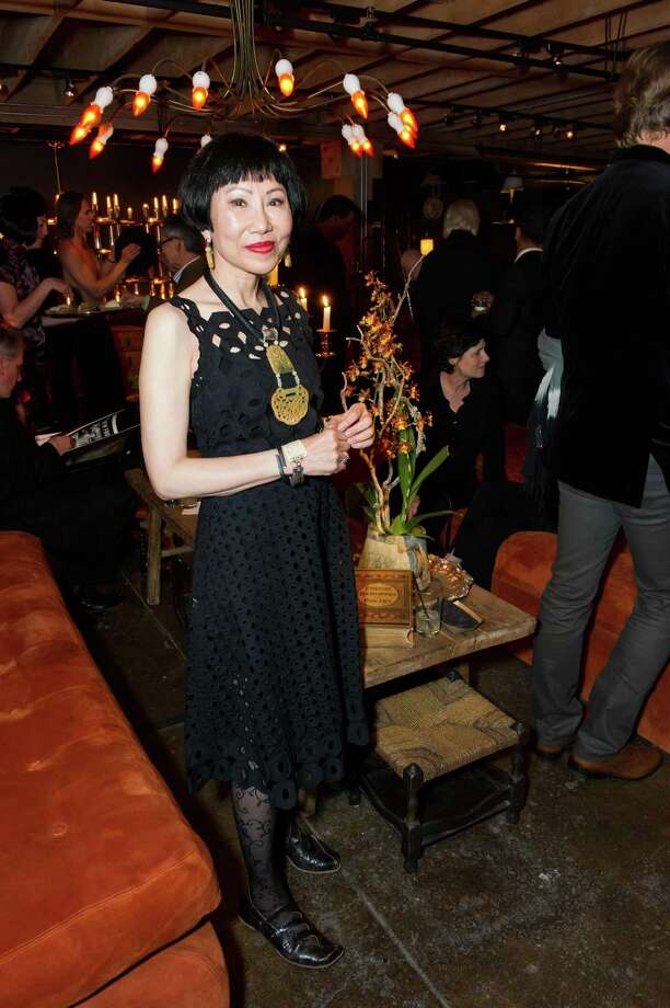 Amy Tan at Ken Fulk's All Fool's Day cocktail party on April 1, 2014. Photo: Drew Altizer Photography / Drew Altizer Photography