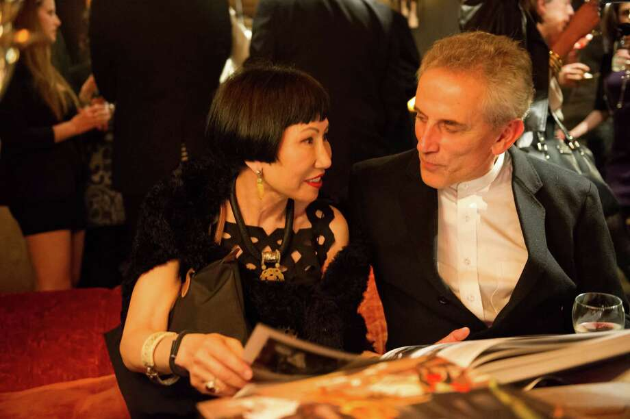 Amy Tan and Lou DeMattei at Ken Fulk's All Fool's Day cocktail party on April 1, 2014. Photo: Drew Altizer Photography / Drew Altizer Photography