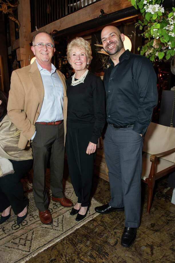 Charley Zukow, Kay Evans and Kevin Kopjak at Ken Fulk's All Fool's Day cocktail party on April 1, 2014. Photo: Drew Altizer Photography / Drew Altizer Photography