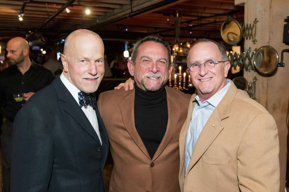Ed Hardy, James Lombardo and Charley Zukow at Ken Fulk's All Fool's Day cocktail party on April 1, 2014. Photo: Drew Altizer, Drew Altizer Photography / Drew Altizer Photography
