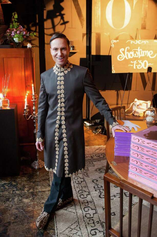 Interior designer and prankster Ken Fulk poses for a photo during his All Fool's Day celebration. Photo: Drew Altizer, Drew Altizer Photography / Drew Altizer Photography
