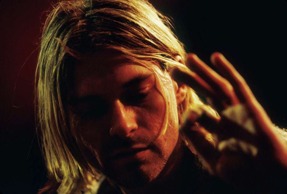 Kurt Cobain of Nirvana during the taping of MTV Unplugged at Sony Studios in New York City, 1993. Photo: Frank Micelotta, Getty Images / Hulton Archive