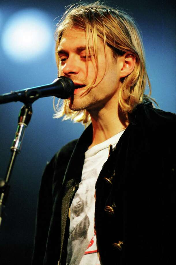 Kurt Cobain of Nirvana at the MTV Live and Loud-Nirvana Performs in December 1993 at Pier 28 in Seattle. Photo: Jeff Kravitz, FilmMagic / FilmMagic, Inc