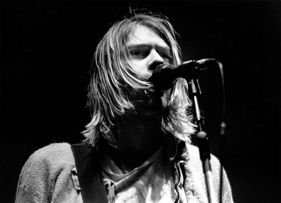 Kurt Cobain performing live onstage at Palasport, Modena, Italy. Photo: Raffaella Cavalieri, Redferns / © Raffaella Cavalieri/Redferns Ltd