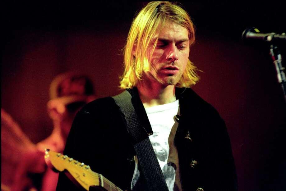Kurt Cobain of Nirvana during MTV Live and Loud at Pier 28 in Seattle, Washington, United States. Photo: Jeff Kravitz, FilmMagic, Inc / FilmMagic, Inc