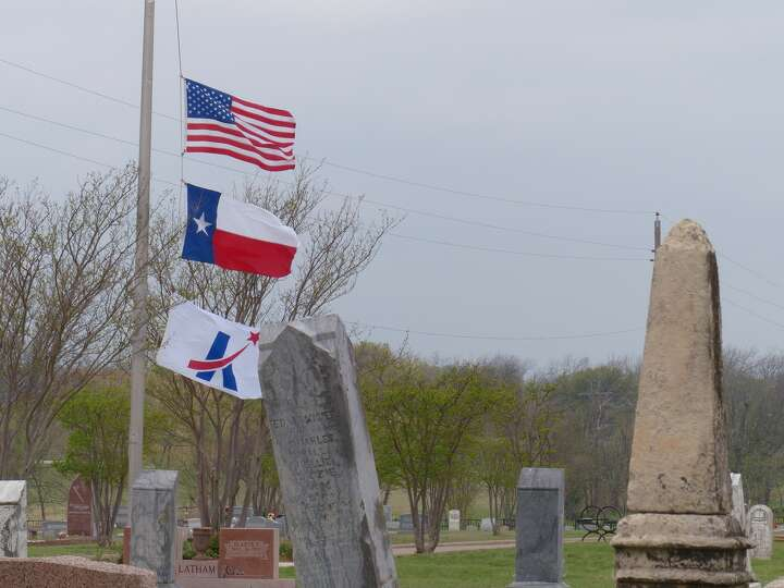 The Flag Flies At Half Mast At The Killeen City Cemetery