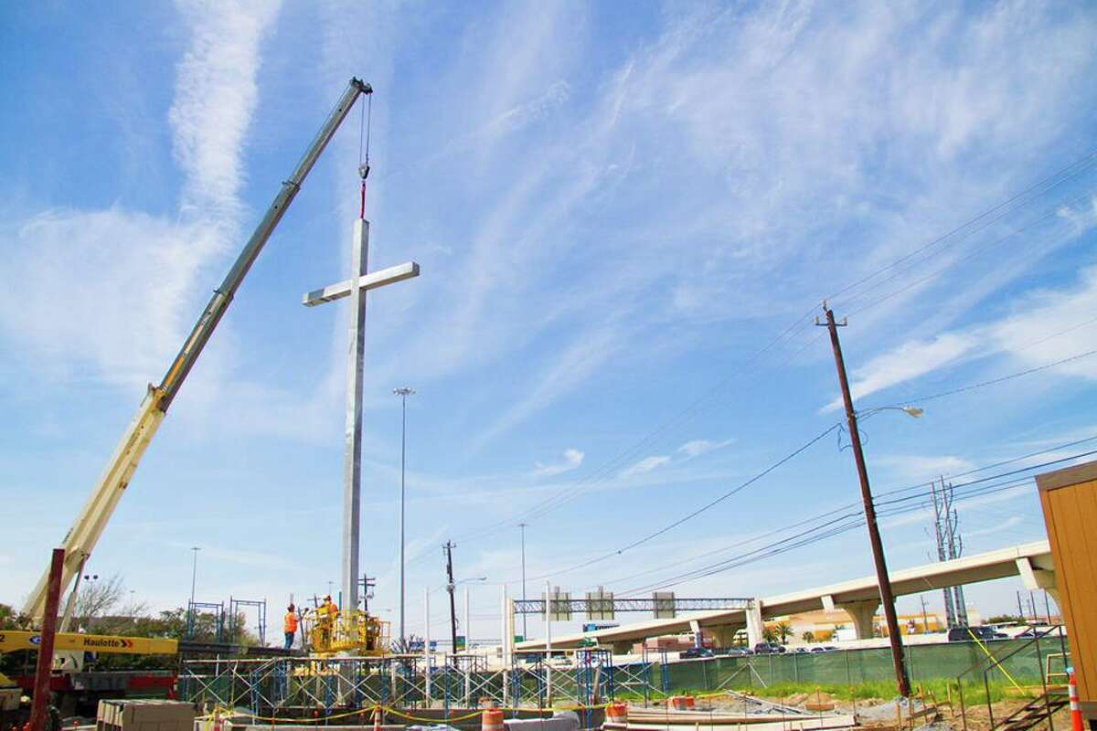 First Baptist Church say the new cross and water wall will be a sign of declaration.