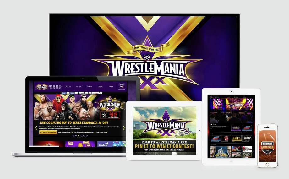 WWE has announced its digital and social media initiatives for WrestleMania, held this Sunday. Photo: Contributed Photo / Stamford Advocate Contributed