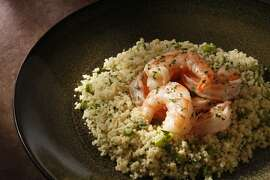 Butter-Poached Shrimp as seen in San Francisco, California on Wednesday April 2, 2014. Food styled by Lynne Char Bennett.