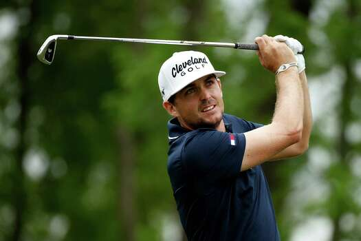 HUMBLE, TX - APRIL 03:  Keegan Bradley of the United States watches his tee shot on the ninth hole during round one of the Shell Houston Open at the Golf Club of Houston on April 3, 2014 in Humble, Texas. Photo: Scott Halleran, Getty Images / 2014 Getty Images