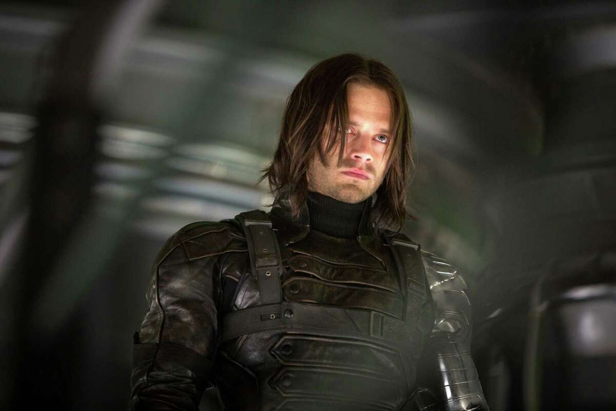 This image released by Marvel shows Sebastian Stan in a scene from