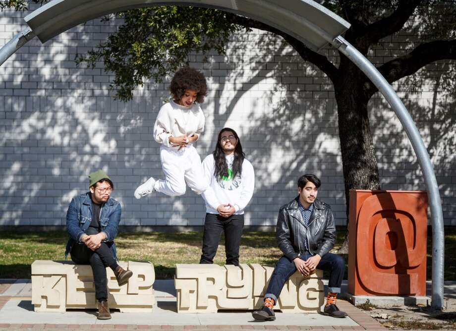 """All we listen to is country music and we no music scene."" -- Amy   Pictured here are the Tontons, a great local band that has broken from the pack and become a national band. We have a great music scene. It's just a matter of wading through a little of refuse. Photo: Michael Paulsen, Houston Chronicle"