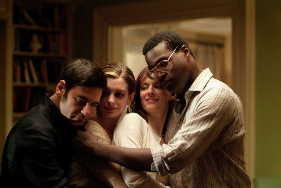 """Rachel Getting Married,"" starring Mather Zickel, from left, Anne Hathaway, Rosemarie DeWitt and Tunde Adebimpe, will screen Friday at the REEL Recovery Film Festival. Photo: Bob Vergara / handout email"