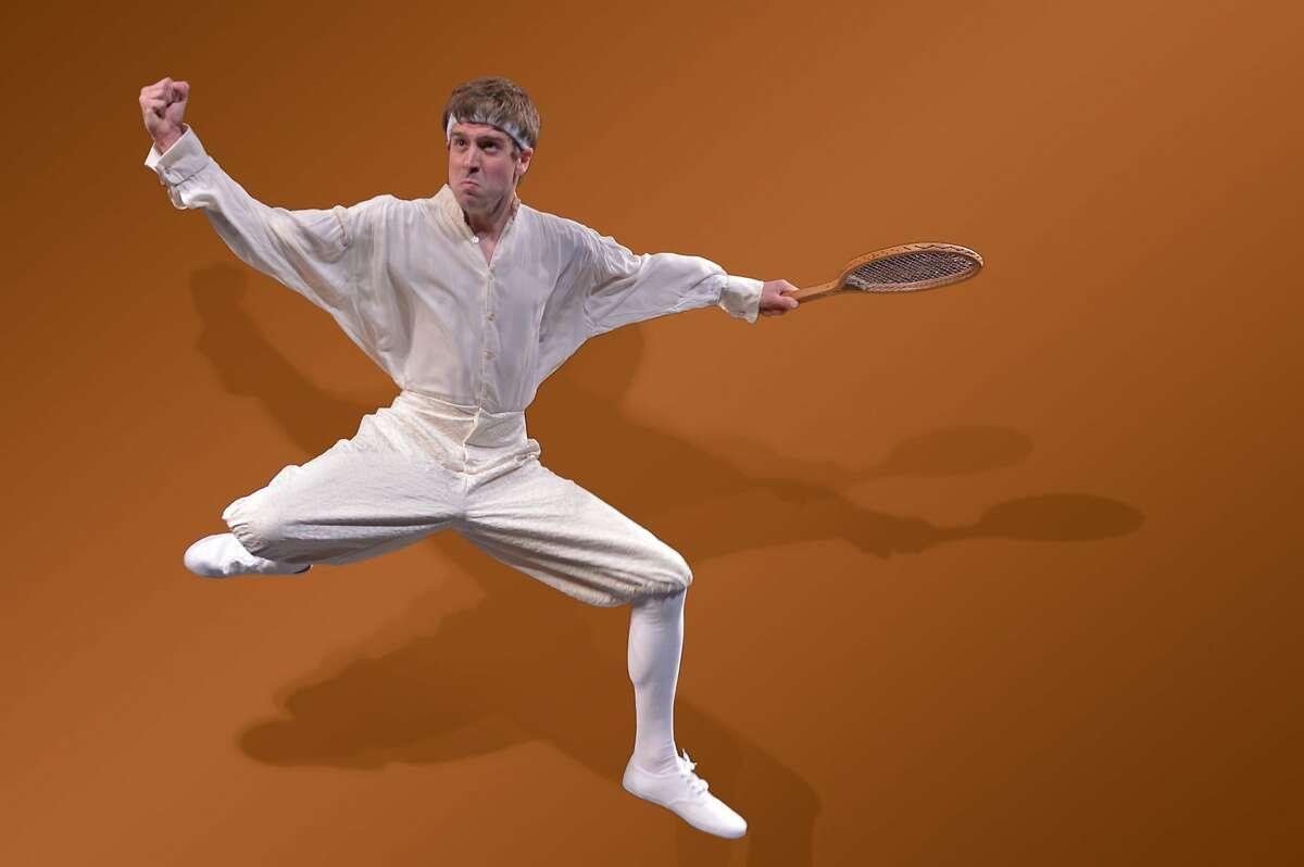 University senior Hamlet plays tennis in David Davalos'