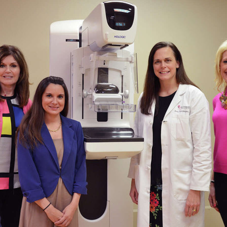 In the Pink of Health co-chair Melissa Preston, from left; Rhonda McKithern, Memorial Hermann The Woodlands Breast Center clinical manager; Dr. Amy Nordmann, breast radiologist; and In the Pink of Health co-chair Carrie Hyman.