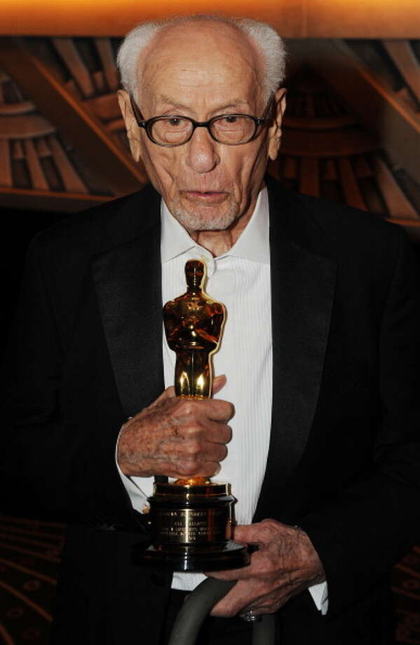 He holds his Honorary Award at the 2010 Oscars Governors Awards at the Hollywood and Highland Center in Hollywood on November 13, 2010. Photo: MARK RALSTON, Getty Images / 2010 AFP