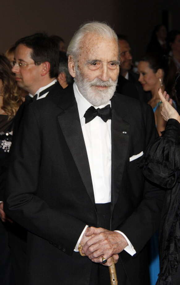 """He is possibly the only actor in cinematic history to have achieved a  unique trifecta. He has played a """"Star Wars"""" villain (Count Dooku), a  James Bond villain (Francisco Scaramanga), and a classic horror movie  monster (Dracula, the Mummy and Frankenstein's Monster). Photo: Anita Bugge, Getty Images / 2012 Anita Bugge"""