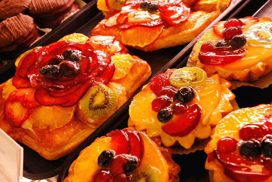 """Fruit star pastry"", made by Iggy and Claudia Crisan Calabria. The family bakery features Central European type baking, with a great array of highly decorated treats. Photo: Luann M. Ferris/Times Union, ALBANY TIMES UNION / ALBANY TIMES UNION"