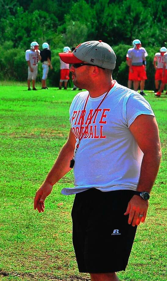 Deweyville head football coach Chris Babin looks on as his team practices last season. Babin has accepted the postion of  head football coach and athletic coordinator at Warren High School. Enterprise file photo Photo: David Berry