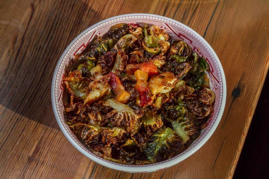 Brussels Sprouts with Salt Pork and Honey-Sriracha sauce at Osmanthus in Oakland. Photo: John Storey, Special To The Chronicle