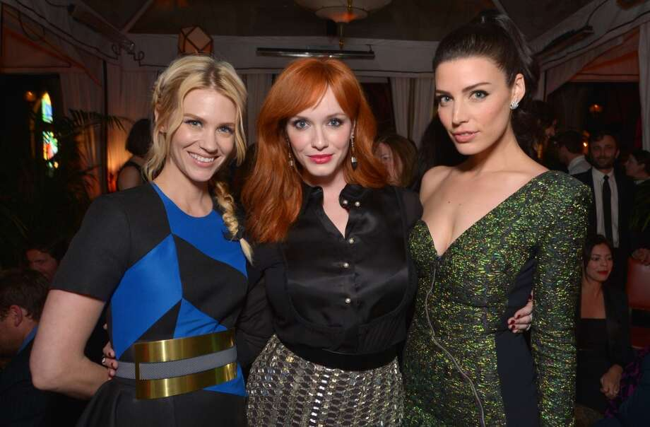 "January Jones, and from left, Christina Hendricks and Jessica Pare attend the LA premiere of ""Mad Men"" season 7 after party on Wednesday, April 2, 2014, in Los Angeles. Photo: John Shearer, Associated Press"