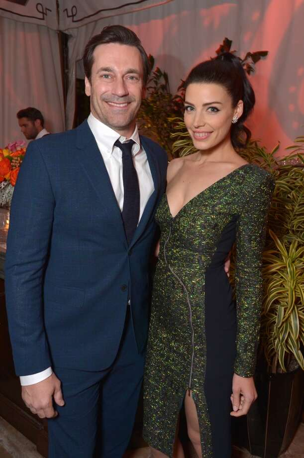 "Jon Hamm, left, and Jessica Pare attend the LA premiere of ""Mad Men"" season 7 after party on Wednesday, April 2, 2014, in Los Angeles. Photo: John Shearer, Associated Press"