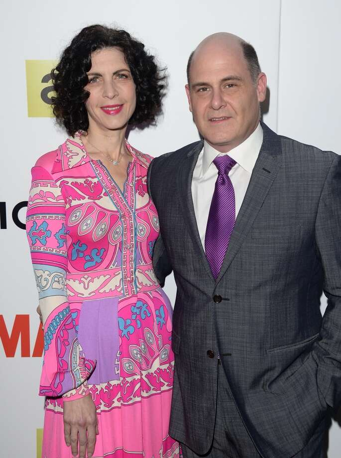 Series creator Matthew Weiner and wife Linda Brettler attend the AMC celebration of the 'Mad Men' season 7 premiere at ArcLight Cinemas on April 2, 2014 in Hollywood, California. Photo: Jason Merritt, Getty Images
