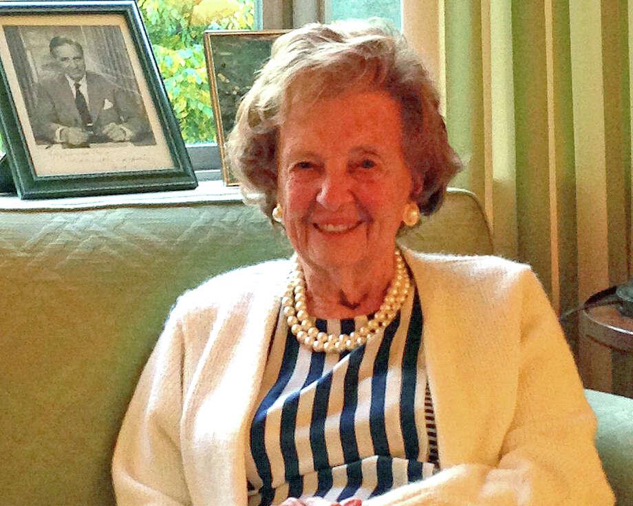 Elizabeth Kauffman Bush, widow of Prescott Bush, died recently at the age of 91. Photo: Contributed Photo / Greenwich Citizen