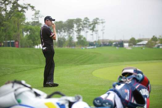 Jimmy Walker studies the first hole of the Golf Club of Houston during the Shell Houston Open, Thursday, April 3, 2014, in Humble. Photo: Marie D. De Jesus, Houston Chronicle / © 2014 Houston Chronicle