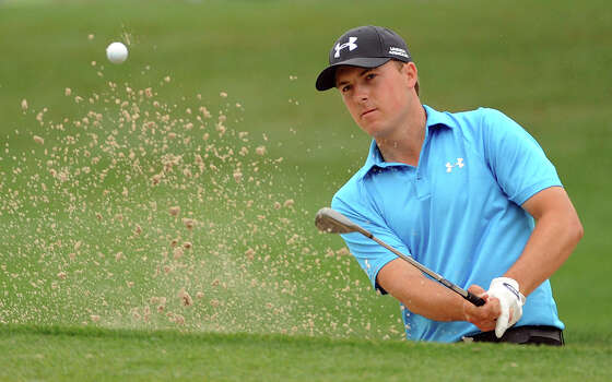 Jordan Spieth hits out of a greenside bunker on No. 8 during the first round of the Shell Houston Open, Thursday, April 3, 2014, at the Golf Club of Houston in Humble. Photo: Eric Christian Smith, For The Chronicle