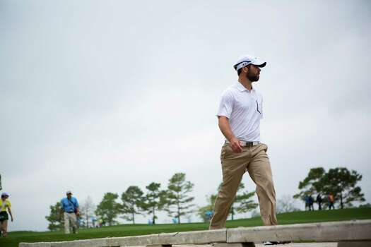 Paul Casey crosses a 17th hole bridge on his way to the green during the Shell Houston Open, Thursday, April 3, 2014, in Humble. Photo: Marie D. De Jesus, Houston Chronicle / © 2014 Houston Chronicle
